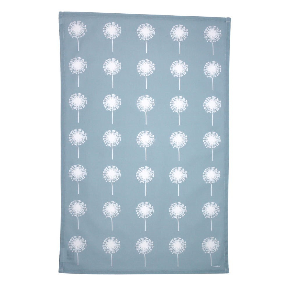 Dandelion Tea Towel In Soft Blue - Zed & Co