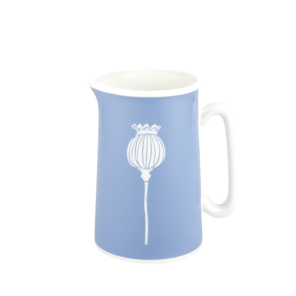 Poppy Jug In Bluebell