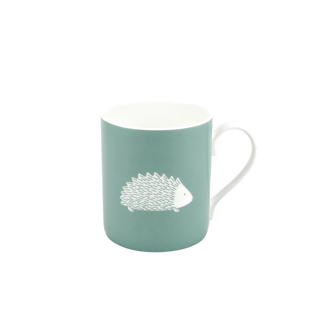 Hedgehog Mug In Sage