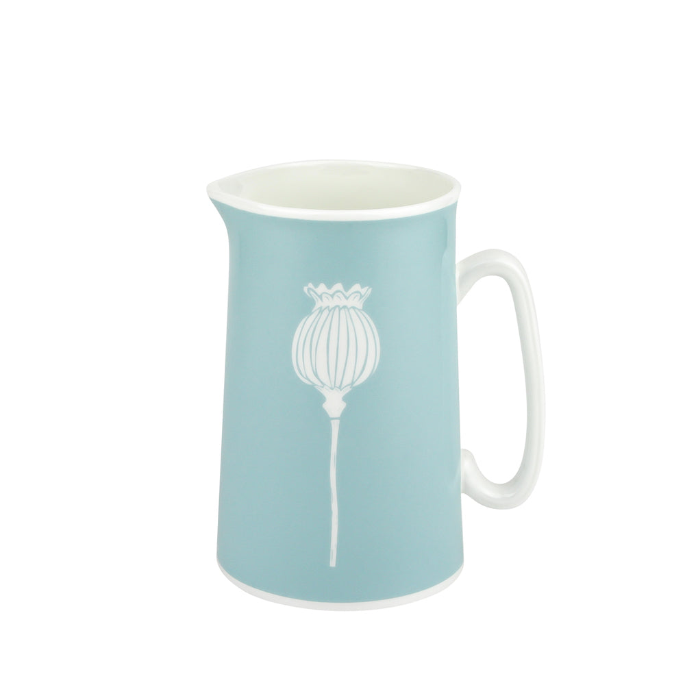 Poppy Jug In Soft Blue - Zed & Co