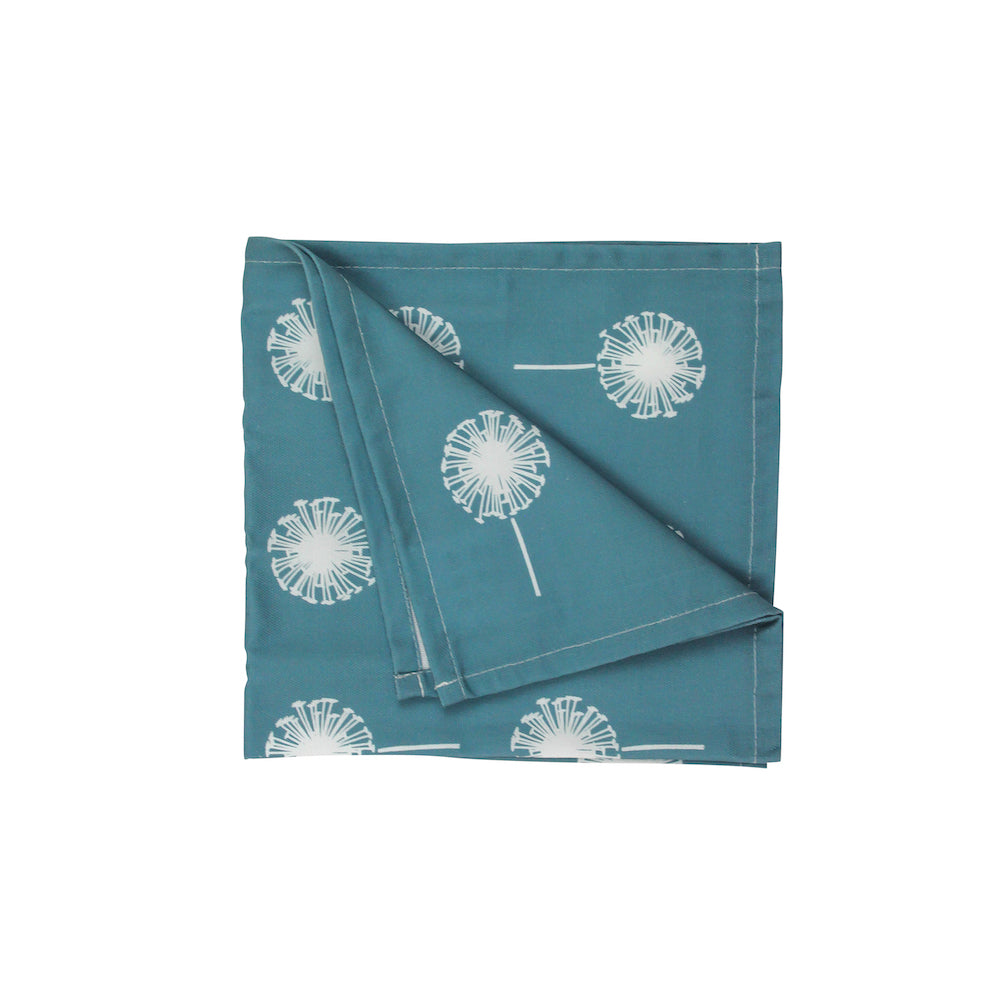 Dandelion Napkins In Teal - Set of Four - Zed & Co
