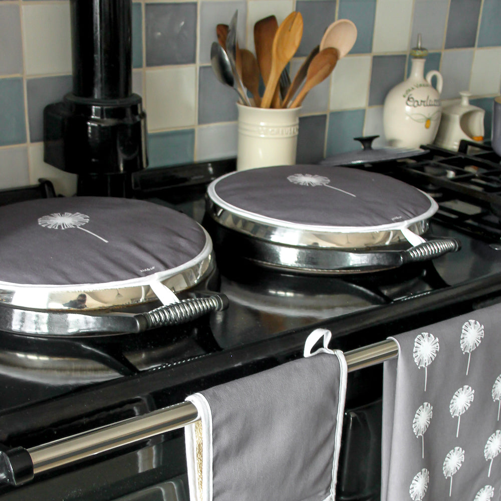 Dandelion Aga Covers In Slate - Pair - Zed & Co