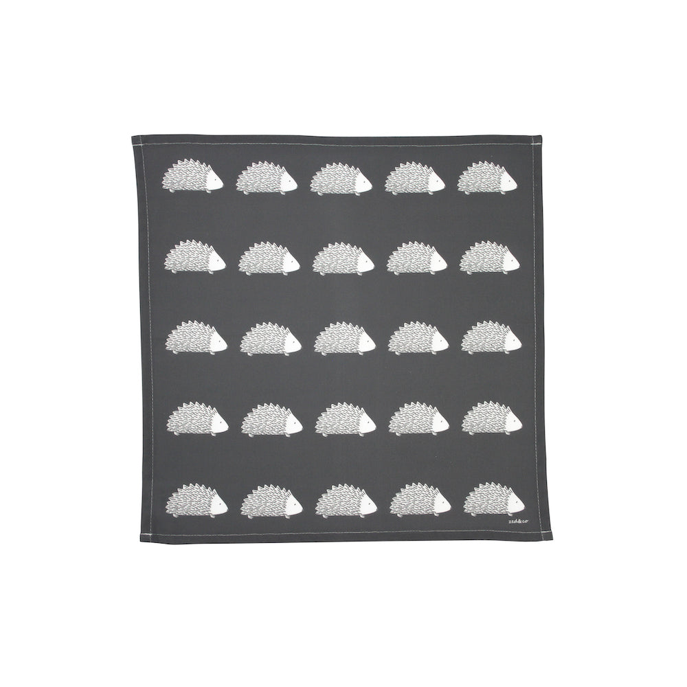 Hedgehog Napkins In Slate - Set of Four
