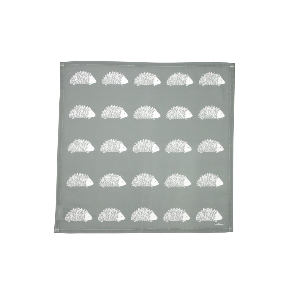 Hedgehog Napkins In Grey
