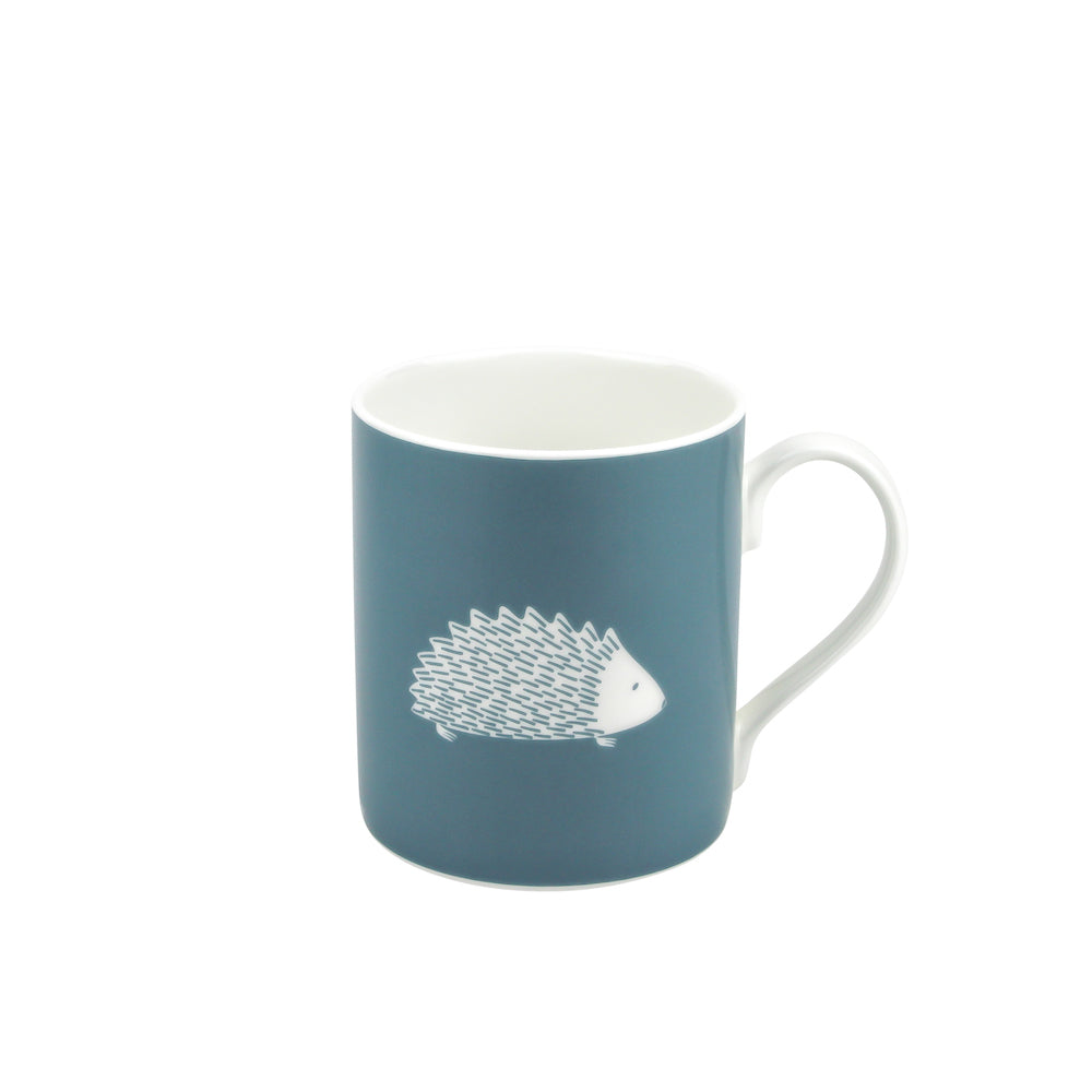 Hedgehog Mug In Teal