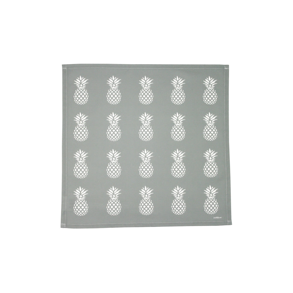 Pineapple Napkins In Grey