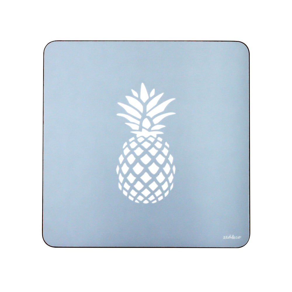 Pineapple Placemats In Bluebell