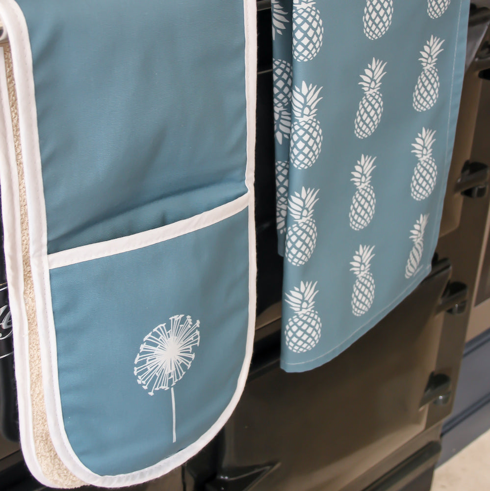 Dandelion Oven Glove In Teal - Zed & Co