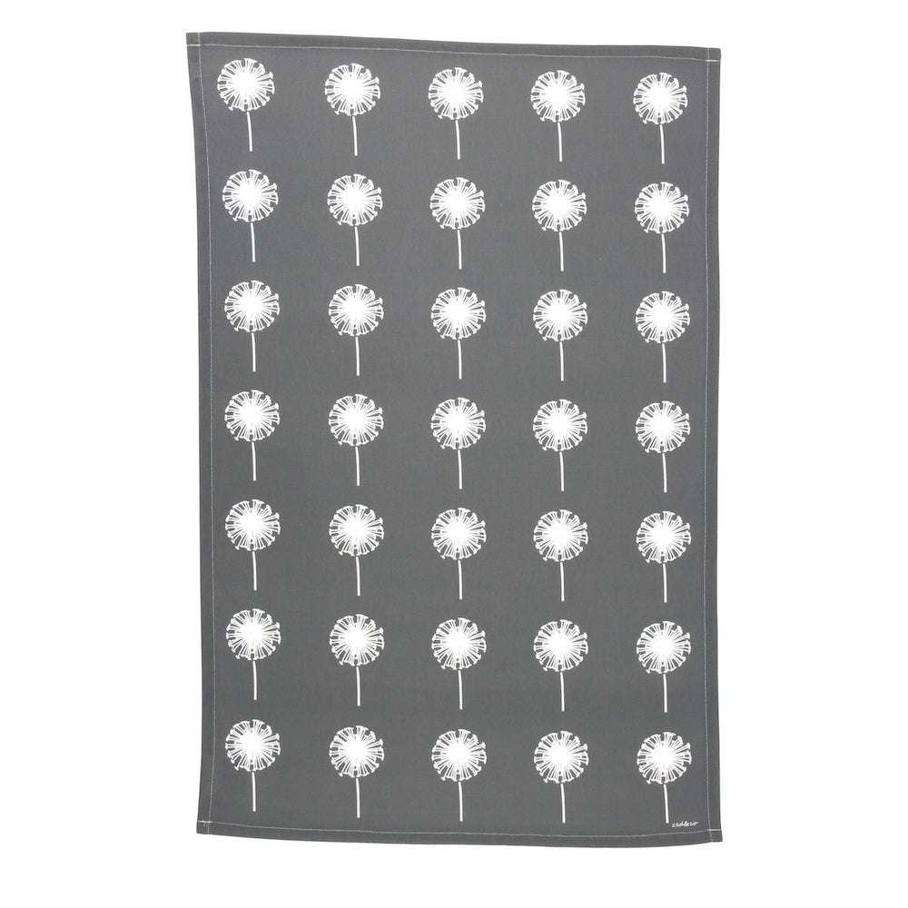 Dandelion Tea Towel In Slate