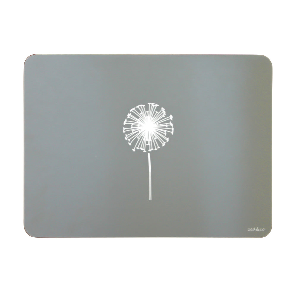 Dandelion Placemats In Grey