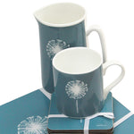 Dandelion Placemats In Teal - Set of Four - Zed & Co