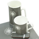 Dandelion Coasters In Grey - Set of Four - Zed & Co