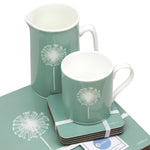 Dandelion Placemats In Sage - Set of Four - Zed & Co