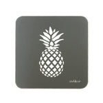Pineapple Coasters In Grey - Set of Four