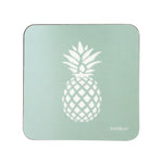 Pineapple Coasters In Aqua - Set of Four