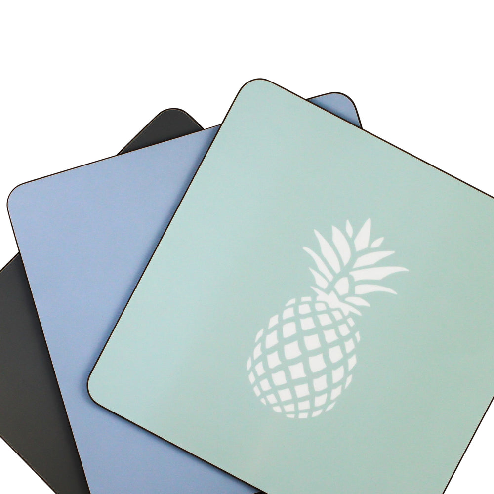 Pineapple Placemats In Bluebell - Set of Four - Zed & Co