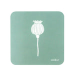 Poppy Coasters In Sage - Set of Four - Zed & Co