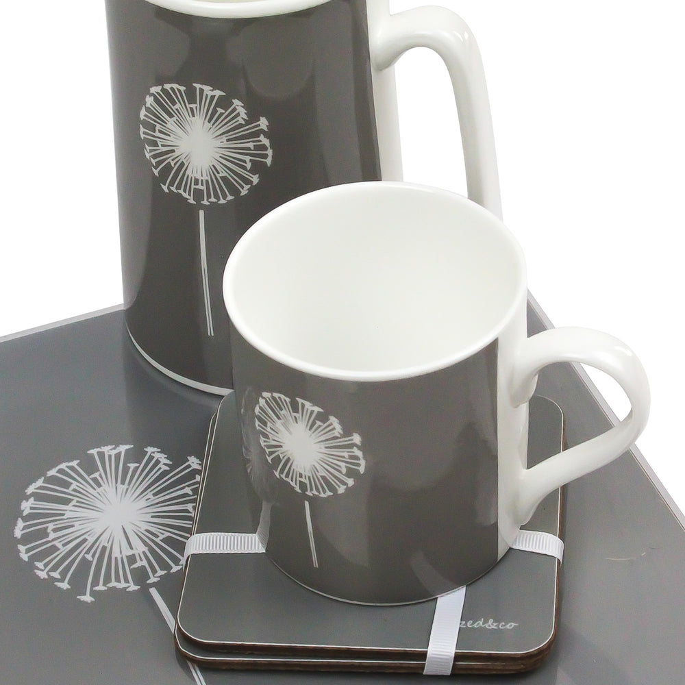 Dandelion Placemats In Grey - Set of Four - Zed & Co