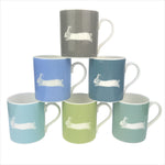 Hare Mug In Soft Blue