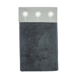 Dandelion Roller Hand Towel In Grey -700gsm