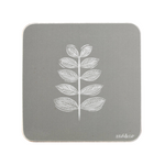 Leaf Stem Coasters In Grey