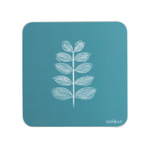 Leaf Stem Coaster In Teal - Zed & Co