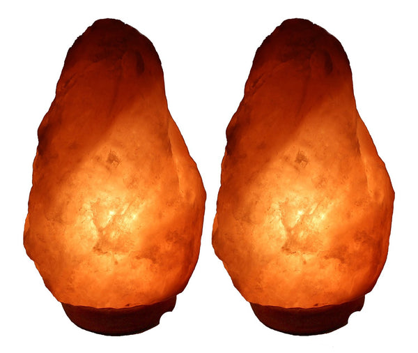 2 Himalayan Rock Salt Lamp Natural Air Purifier Negative