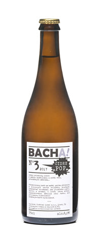 BACHA! polosuchý cidre č.3 POP! 750 ml