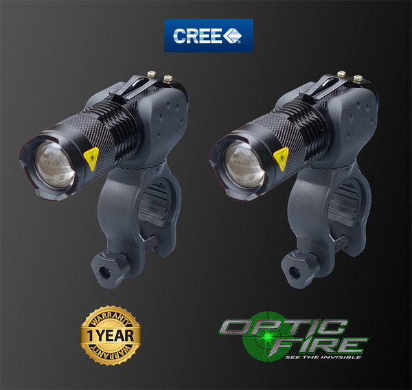 Micro Q5-ZOOM Bike light set - Opticfire UK LED gun lights  - 1