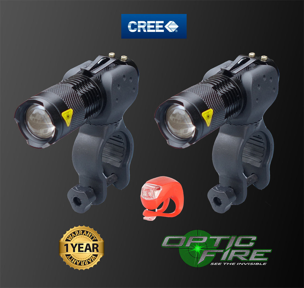 Micro Q5-ZOOM Bike light set - Opticfire UK LED gun lights  - 3