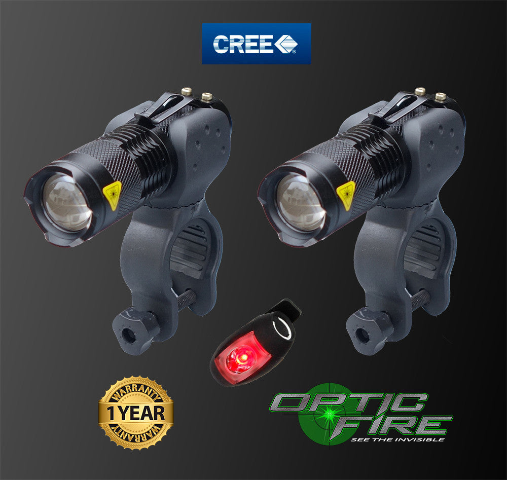 Micro Q5-ZOOM Bike light set - Opticfire UK LED gun lights  - 4