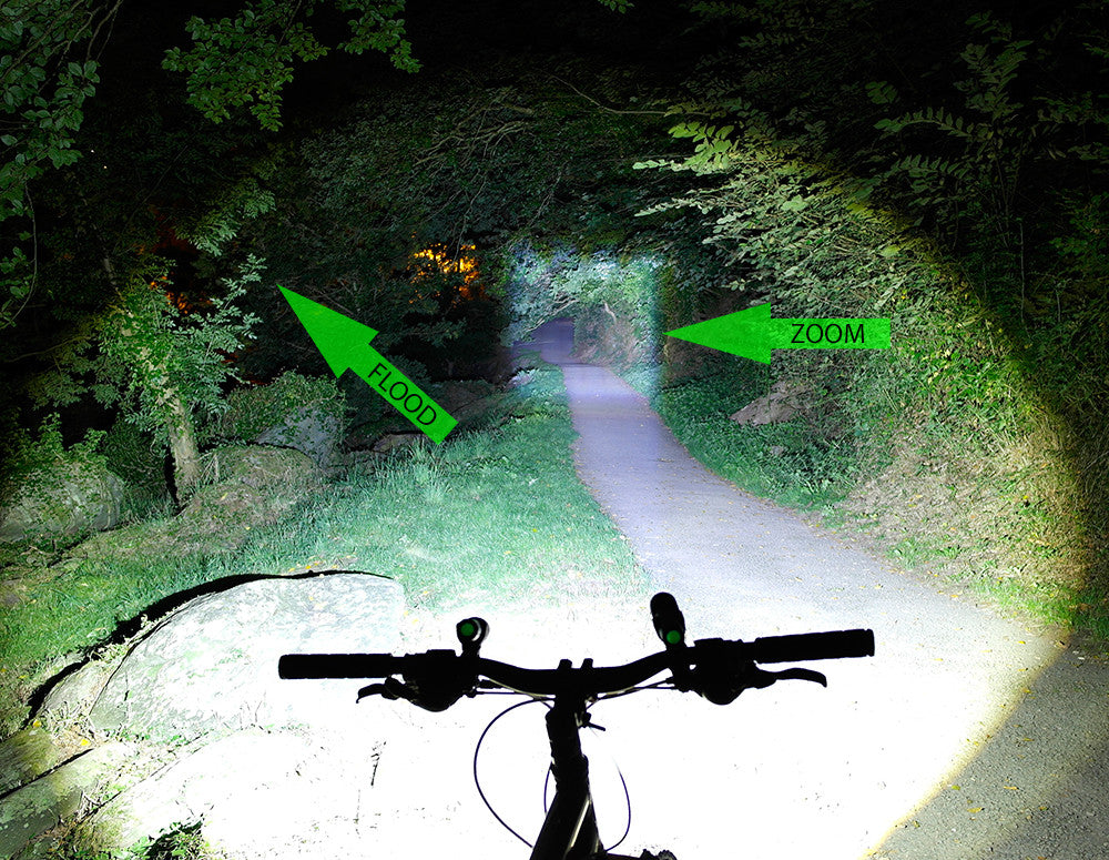 T6-ZOOM Bike & helmet light combo - Opticfire UK LED gun lights  - 7