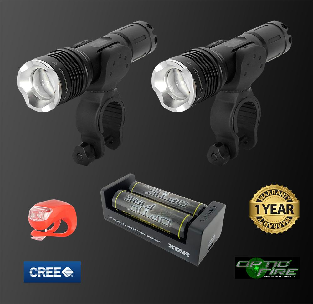 Bike Lights - T6-ZOOM Bike Light Set