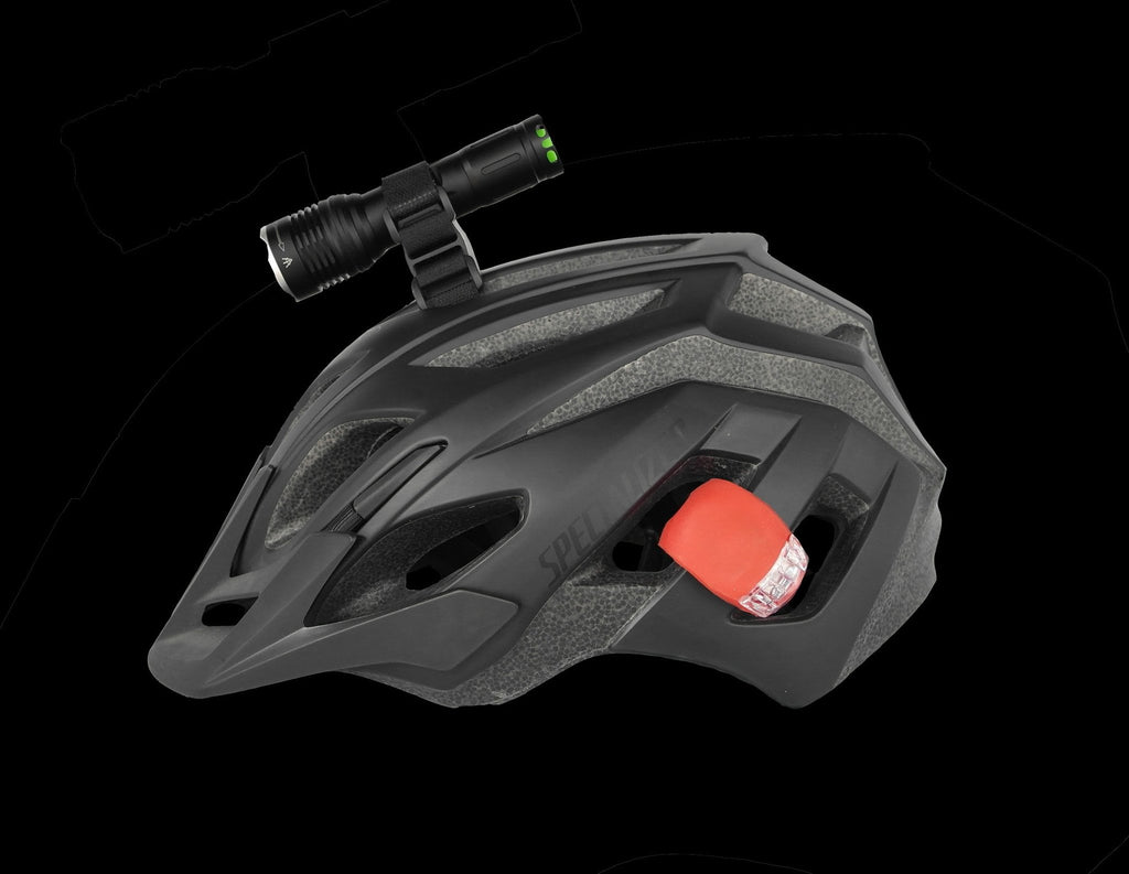 Bike Lights - T6-ZOOM Deluxe Helmet Light Set