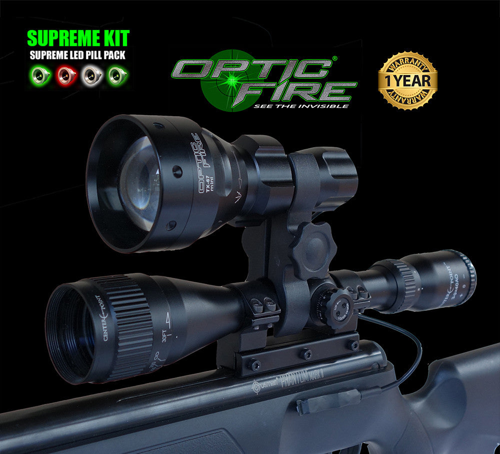TX-67 mini SUPREME lamping kit - Opticfire UK LED gun lights  - 1
