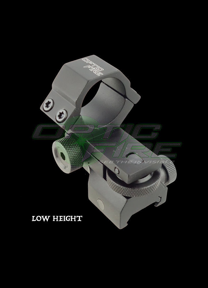 Low height adjustable windage/elevation weaver rail torch scope mount