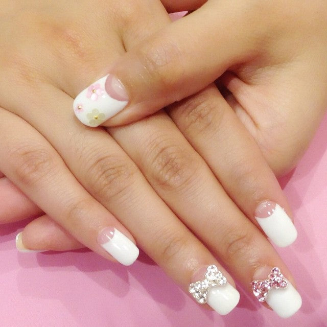 Cute French Nails - Japanese Style