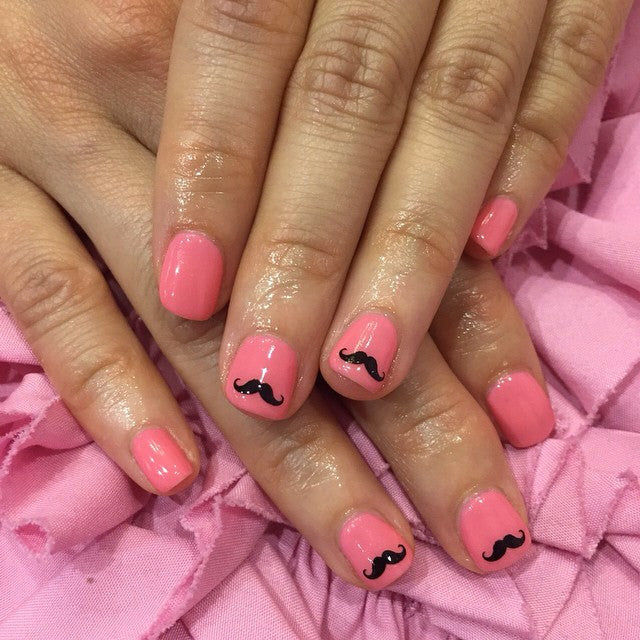 Hipster mo nail design mustache hipster nail design prinsesfo Images