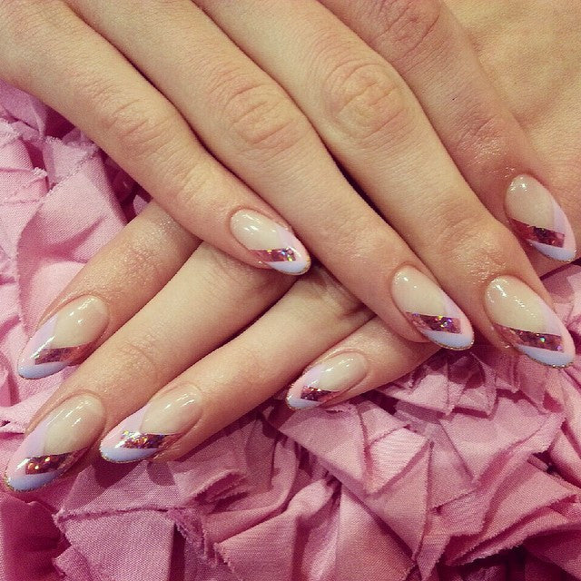 Gel extension nail design