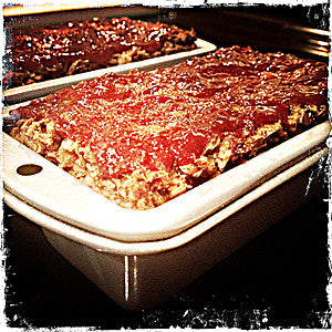 Glazed Lentil Roasted Walnut Apple Meatless Loaf