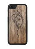 Slim Wooden Phone Case (Black) | Yoga Ganesha