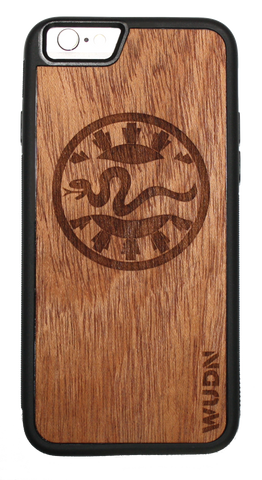 Slim Wooden Mahogany Phone Case | 116th Snake Patch