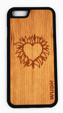 Slim Wooden Phone Case | Fire Heart