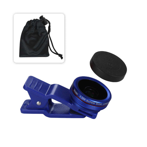 PROFESSIONAL HD CAMERA LENSKIT BUILT IN 15X MACRO LENS NAVY FOR IPHONES AND SMARTPHONES