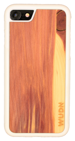 Slim Wooden iPhone Case White | Yoga Ganesha Two