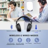 Mpow H5 Noise Cancelling Bluetooth Headphones with Microphone Over-Ear Wireless Headset for 18 Hrs Playtime