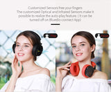 Bluedio T5S Active Noise Cancelling Wireless Bluetooth Headphones Portable Headset with Microphone for Cell Phones