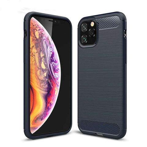 Ultra Thin Silicone Phone Case for iPhone 11 Rubber Carbon Fiber Covers for iPhone 11 Pro/for iPhone 11 Pro MAX 2019 Case