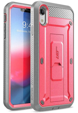 SUPCASE For iPhone XR Case 6.1 inch UB Pro Full-Body Rugged Holster Phone Case Cover with Built-in Screen Protector & Kickstand