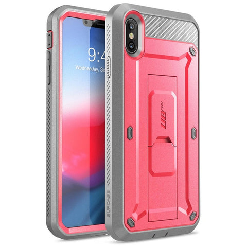 Cover For iPhone Xs Max Case 6.5 inch SUPCASE UB Pro Full-Body Rugged Holster Case with Built-in Screen Protector & Kickstand
